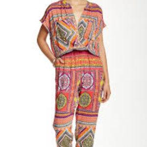 NWOT Ganesh print jumpsuit, size 4